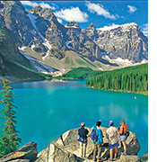 Canadian Rockies walking and hiking photo